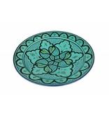 Marokkaanse schaal aqua 27 cm