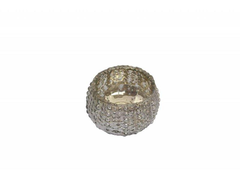 Waxinelichthouder zilverkleurig (set van 3)