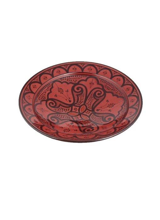 Marokkaanse schaal rood 35 cm