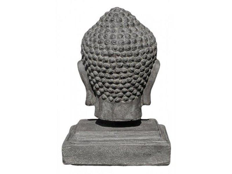 Boeddhahoofd op voet 45 cm
