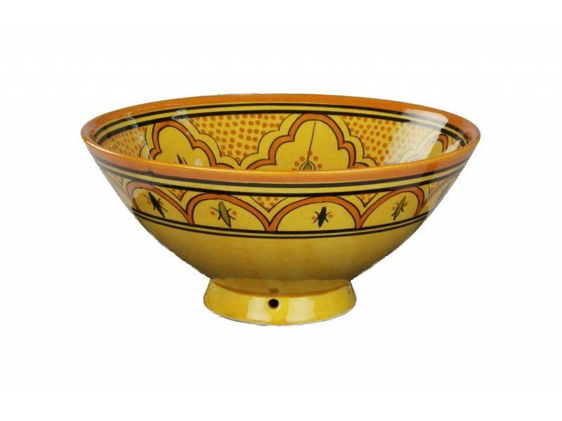 Marokkaanse kom geel-oranje 27 cm