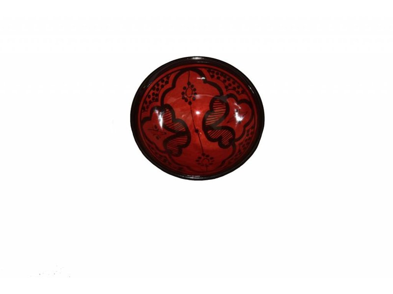 Marokkaans schaaltje rood 15 cm
