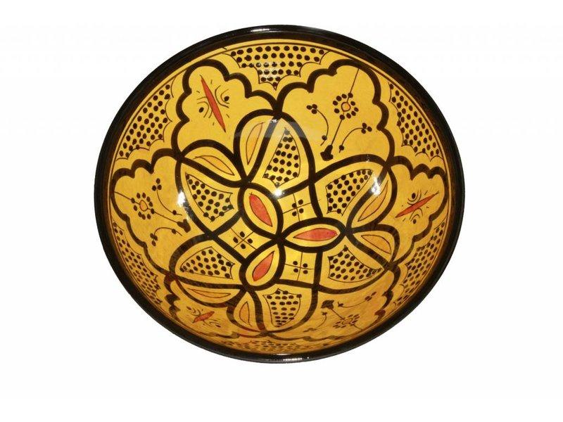 Marokkaanse kom geel 27 cm
