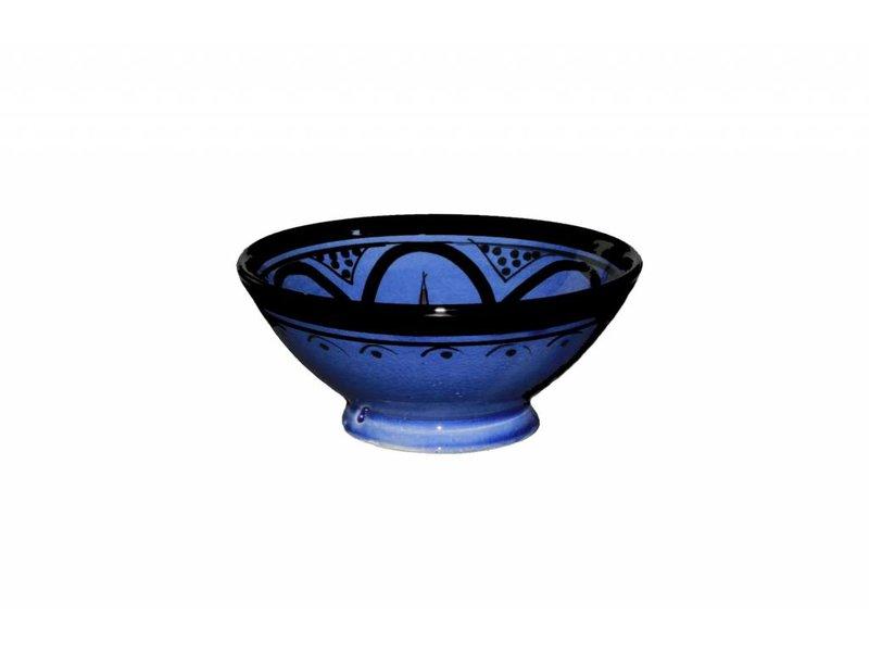 Marokkaans schaaltje blauw 13 cm