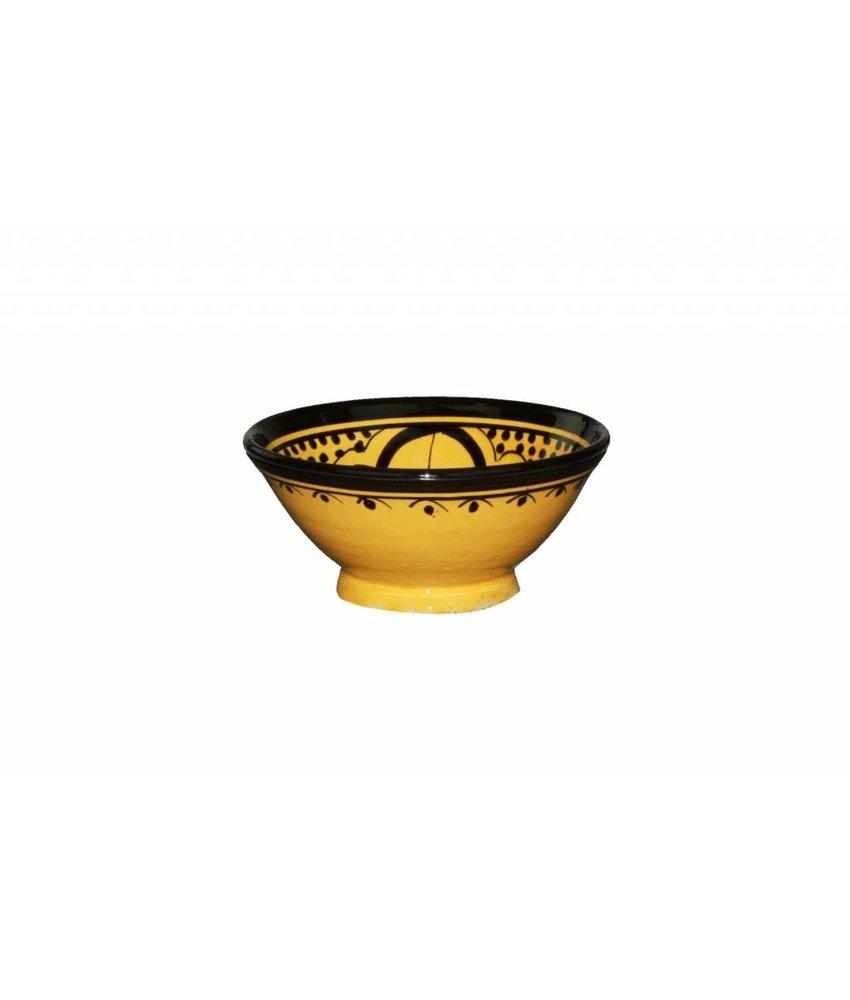 Marokkaans schaaltje geel 13 cm