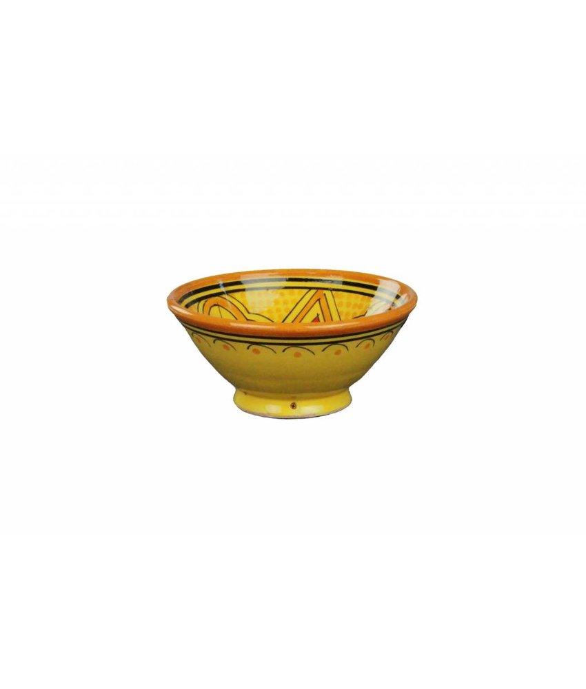Marokkaans schaaltje geel-oranje 13 cm