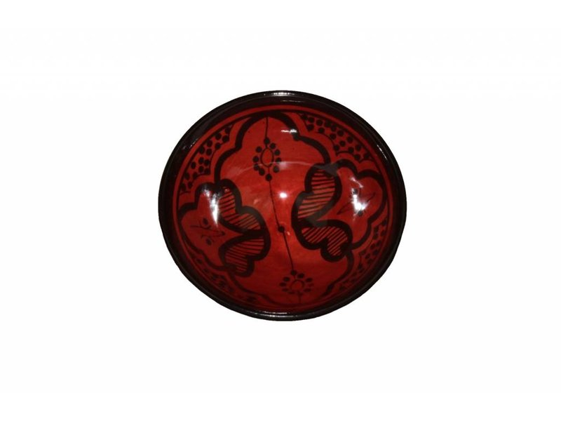 Marokkaans schaaltje rood 13 cm