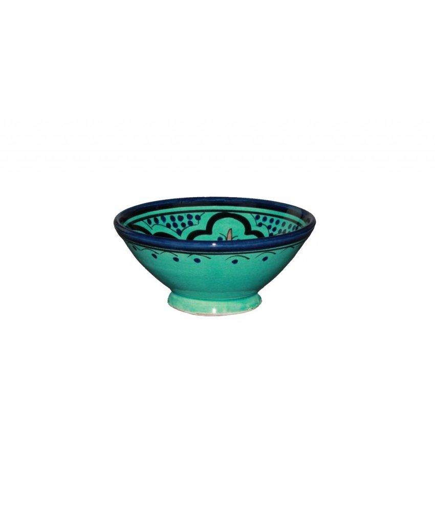 Marokkaans schaaltje aqua 13 cm