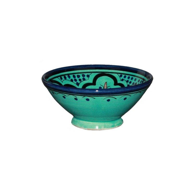Marokkaans schaaltje aqua 15 cm