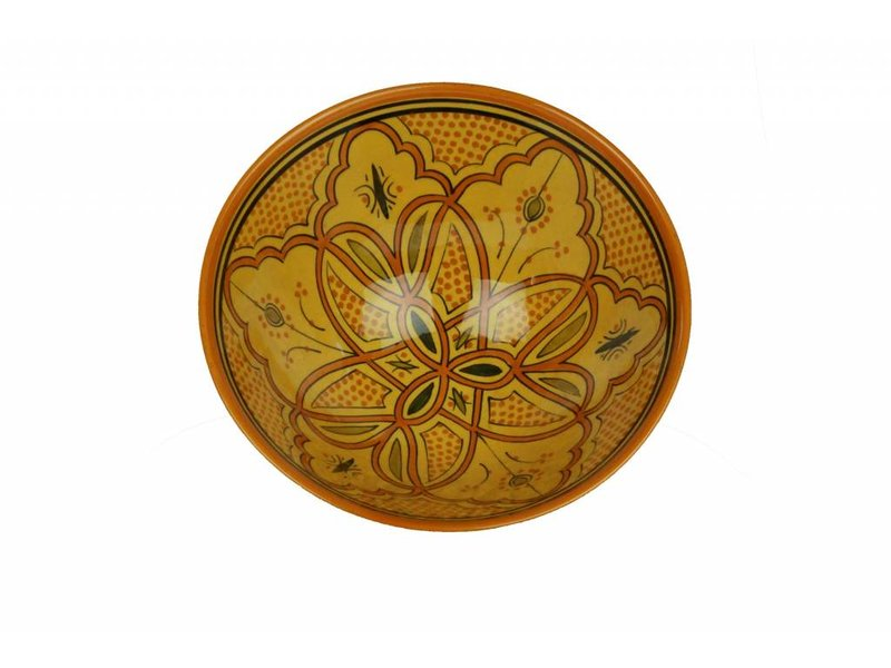 Marokkaanse kom geel-oranje 30 cm