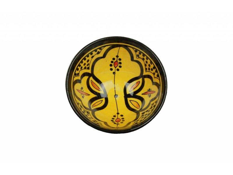 Marokkaans schaaltje geel 15 cm