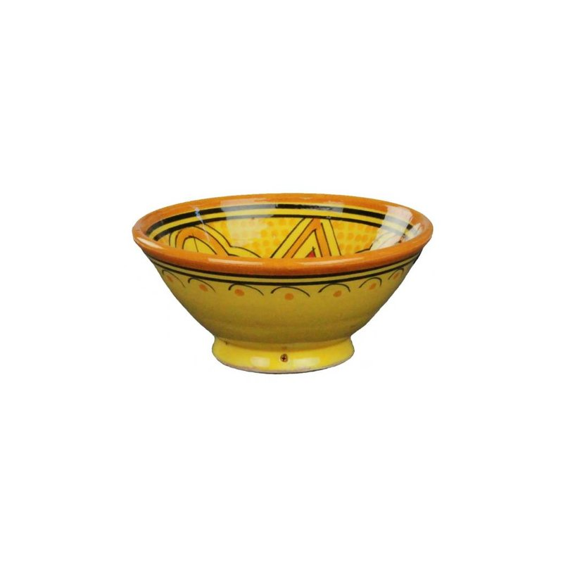 Marokkaans schaaltje geel-oranje 15 cm