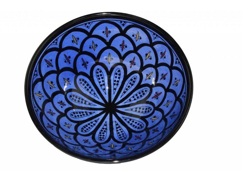 Marokkaanse kom blauw 22 cm