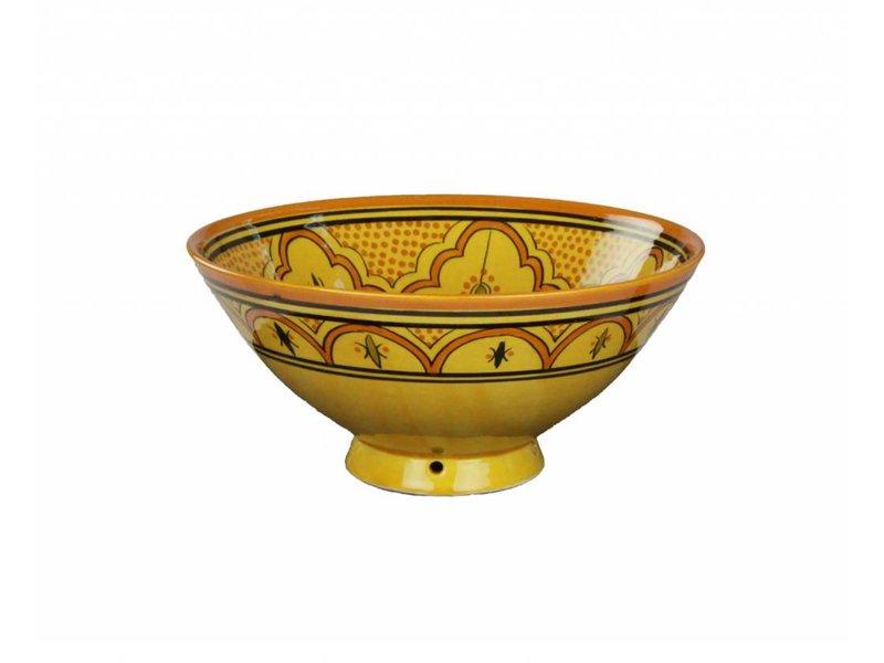 Marokkaanse kom geel-oranje 22 cm