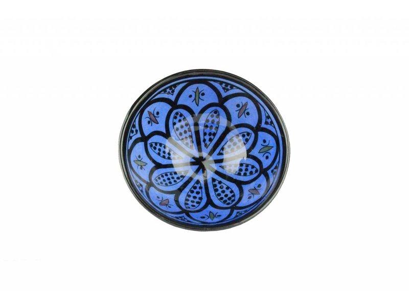 Marokkaans schaaltje blauw 15 cm