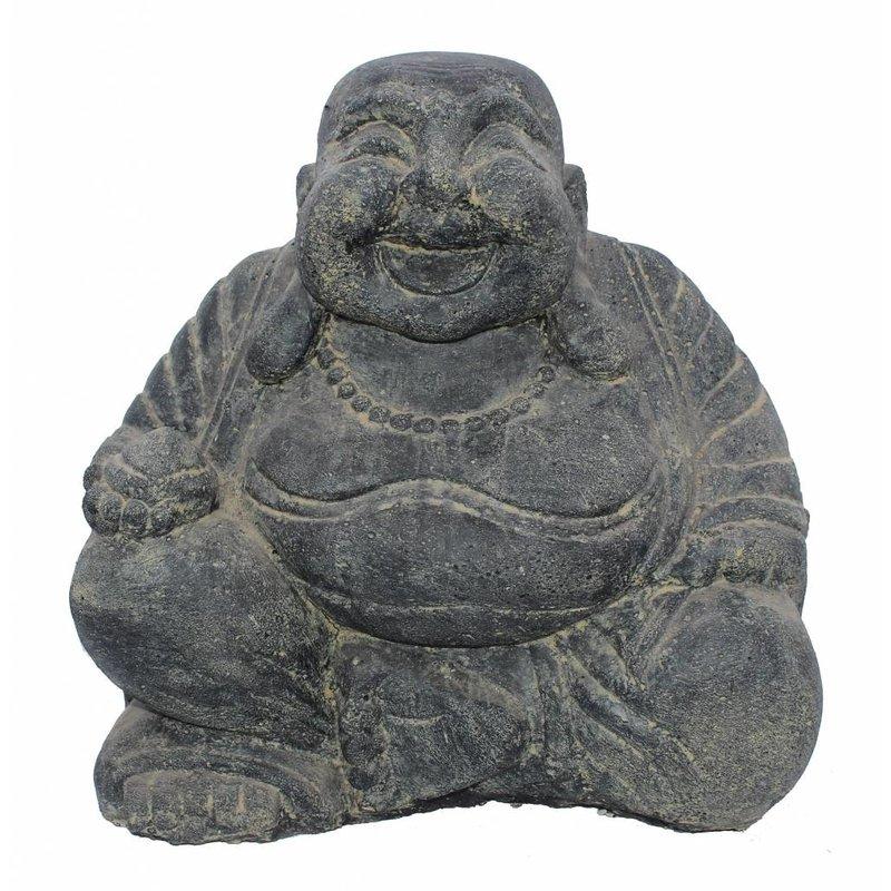 Happy boeddha met geldzak 30 cm