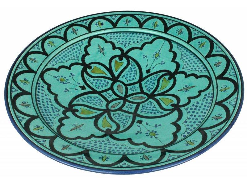 Marokkaanse schaal aqua 40 cm