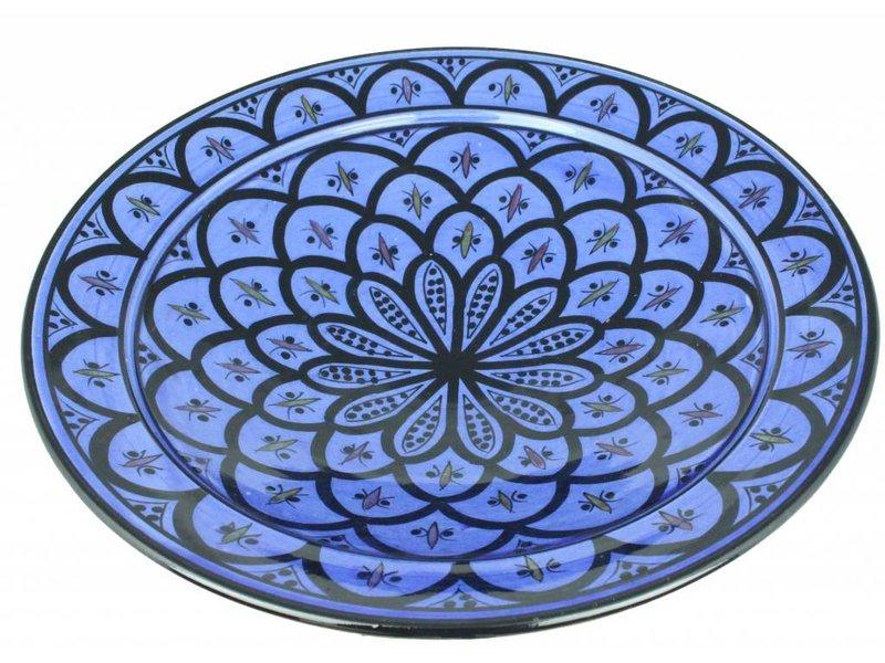 Marokkaanse schaal blauw 40 cm