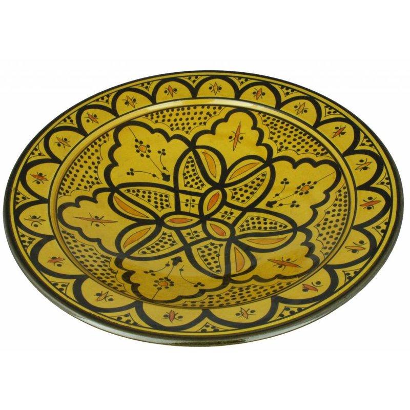 Marokkaanse schaal geel 40 cm