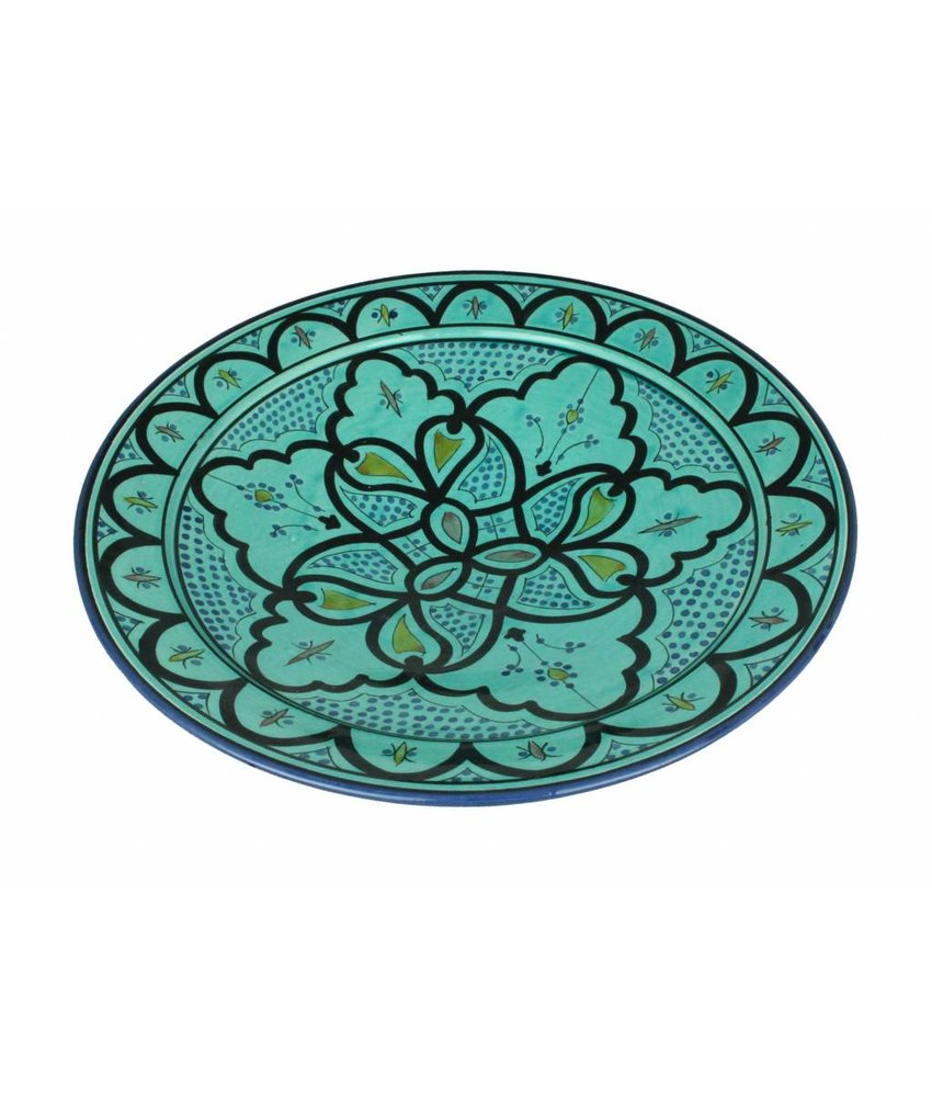 Marokkaanse schaal aqua 35 cm