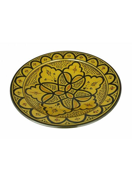 Marokkaanse schaal geel 35 cm