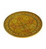 Marokkaanse schaal geel-oranje 35 cm