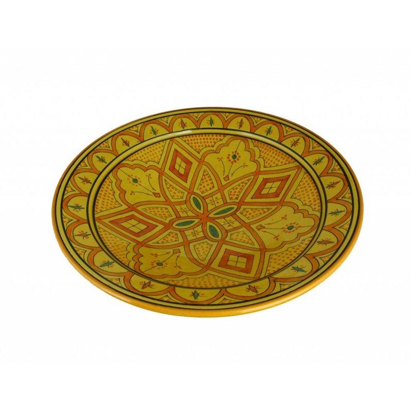 Marokkaanse schaal geel-oranje 27 cm