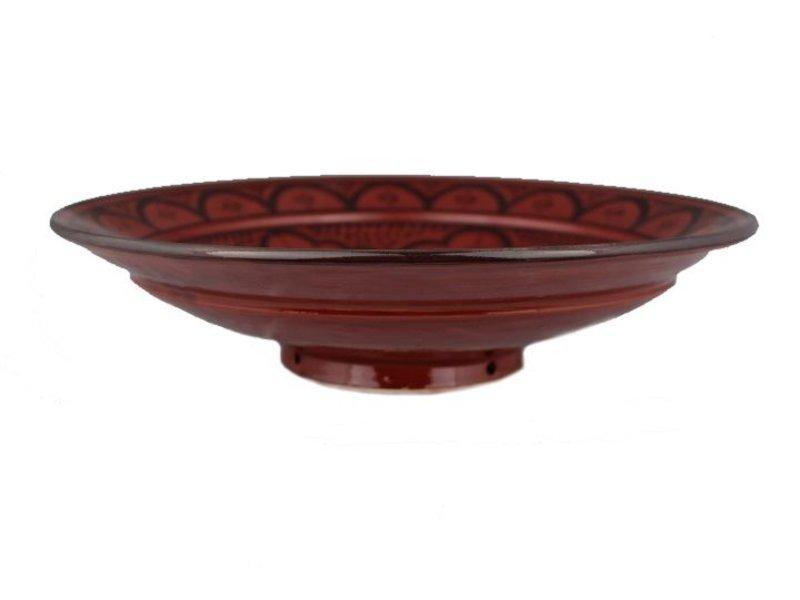 Marokkaanse schaal rood 40 cm