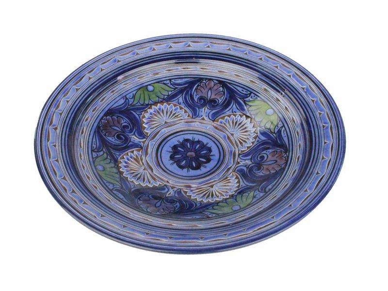 Marokkaanse schaal gegraveerd 35 cm
