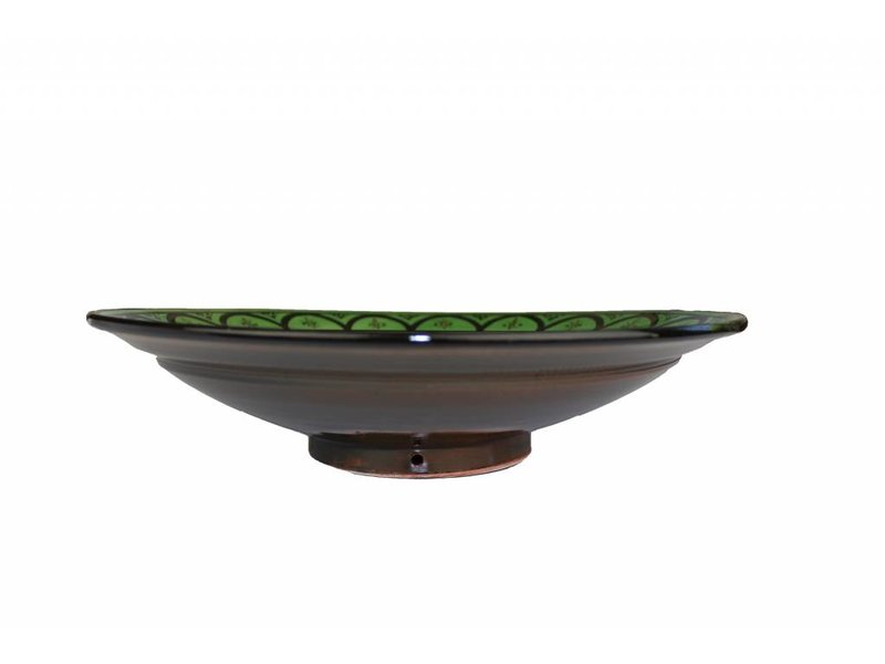 Marokkaanse schaal groen 40 cm