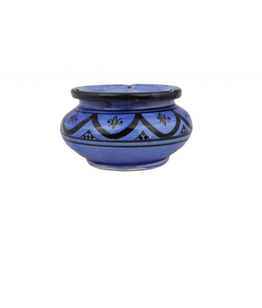 Marokkaanse waterasbak blauw middelgroot