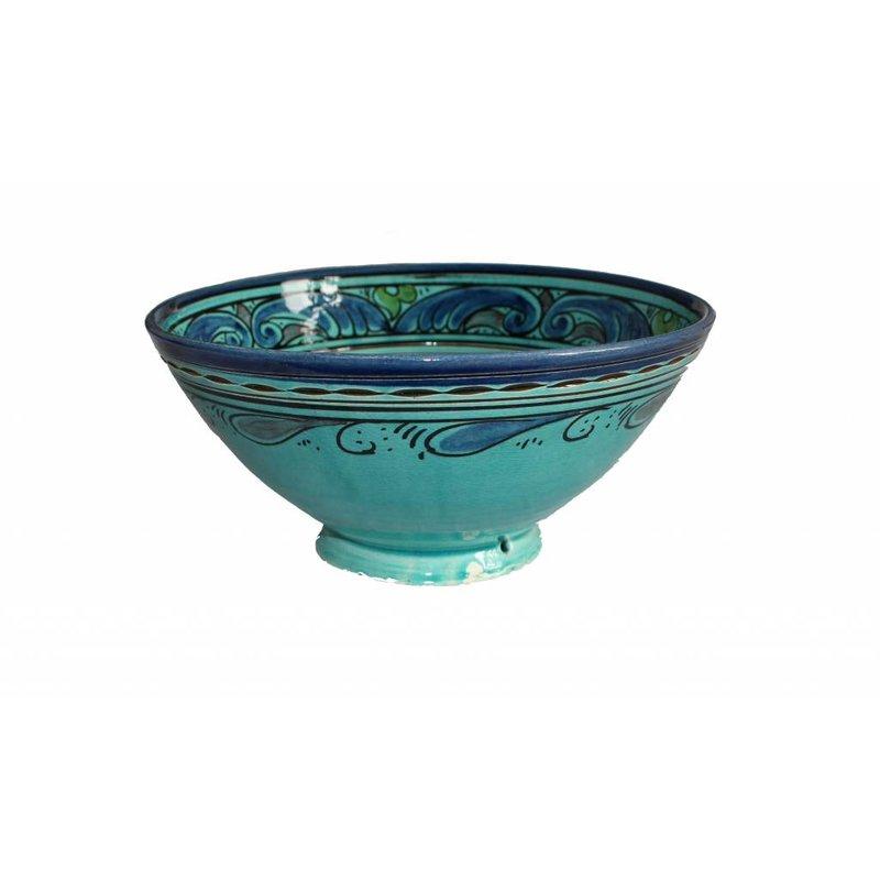 Marokkaanse kom aqua gegraveerd 22 cm