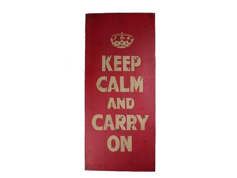 Tekstbord Keep calm 90x40