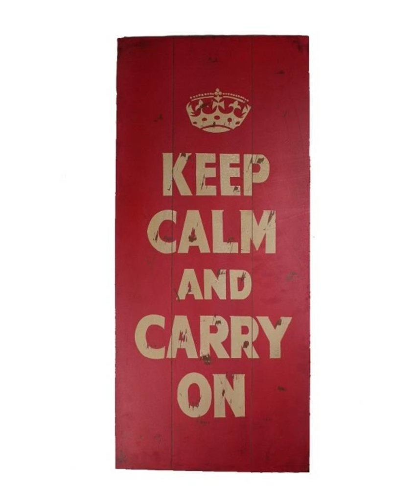 Tekstbord Keep calm 90x40