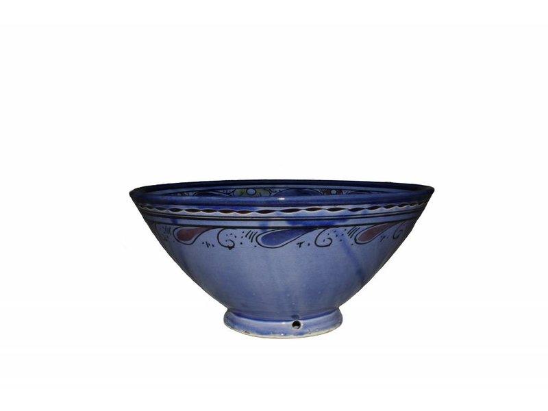 Marokkaanse kom blauw gegraveerd 27 cm