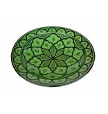 Marokkaanse schaal groen 35 cm