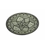 Marokkaanse schaal wit-zwart 27 cm