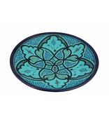 Marokkaanse schaal aqua 30 cm