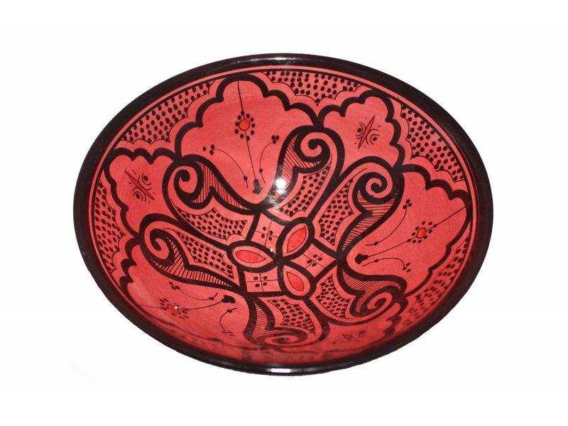 Marokkaanse kom rood 27 cm