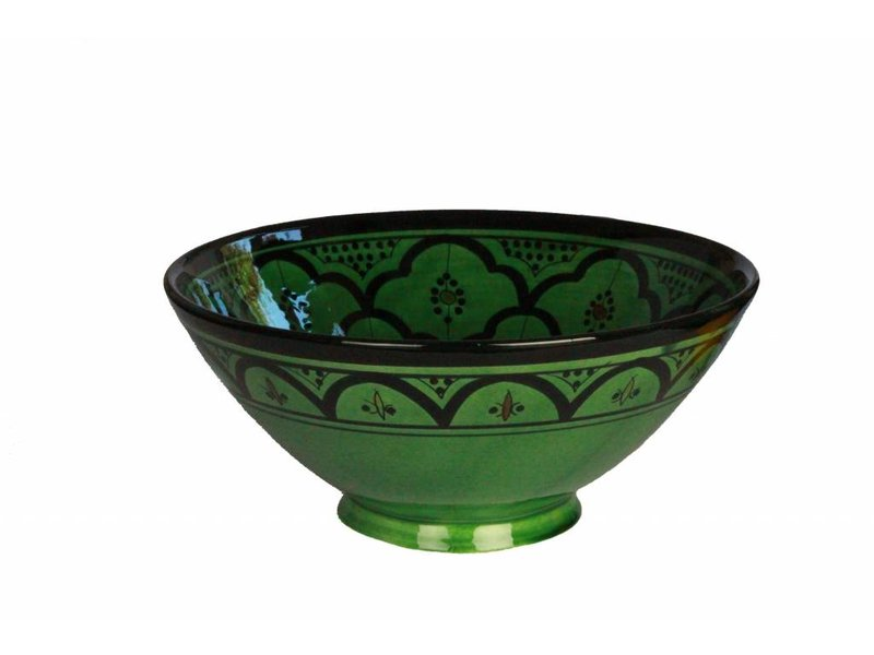 Marokkaanse kom groen 22 cm