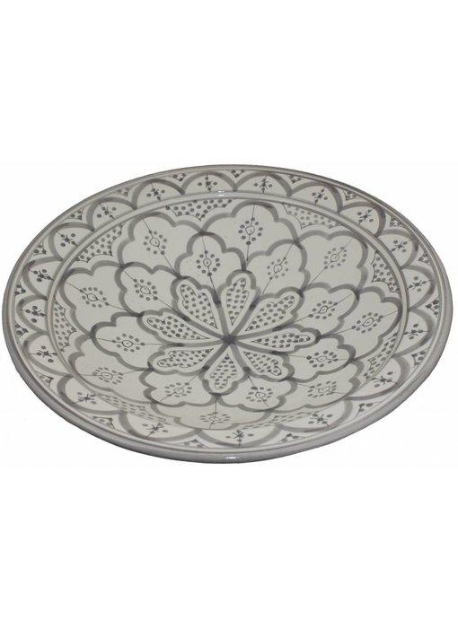 Marokkaanse schaal wit-grijs 40 cm
