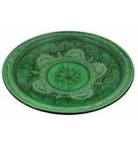 Marokkaanse schaal groen gegraveerd 40 cm