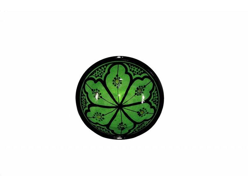 Marokkaans schaaltje groen 13 cm