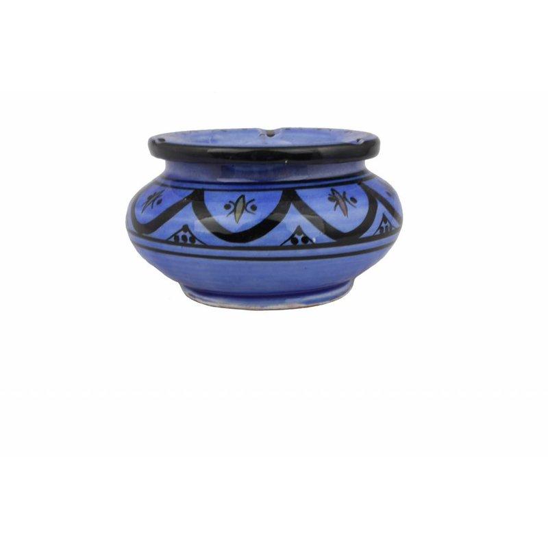 Marokkaanse waterasbak blauw groot