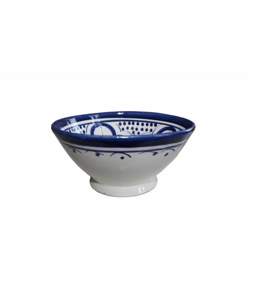 Marokkaans schaaltje wit-blauw 15 cm