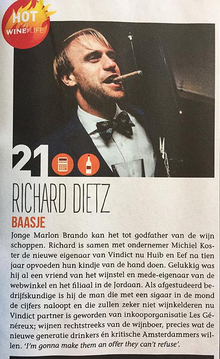 Richard in de Winelife top 50