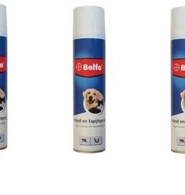 3 Bussen Bolfo mand & tapijstspray