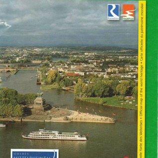 "Wanderkarte UNESCO Welterbe Oberes Mittelrheintal ""Koblenz"""