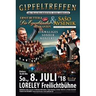 So, 08.07.2018 19:00 Uhr Freilichtbühne Loreley Ernst Hutter & Die Egerländer Musikanten & Saso Avesnik und seine Oberkrainer - Sonderkonzert!