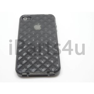 Bumper iPhone 4/4S Case Diamant Zwart Transparant